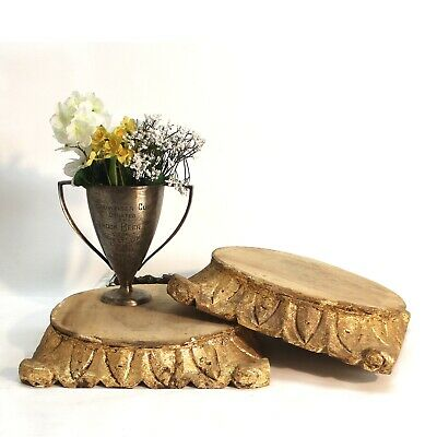 Hand Carved Pillar Base for Display in Aged Wood or Furniture Pedestal for Art