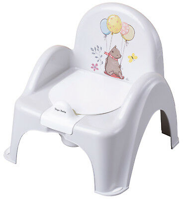 Baby Toilet Potty Chair With Melodies Kids Training Seat Forest Fairytale Beige