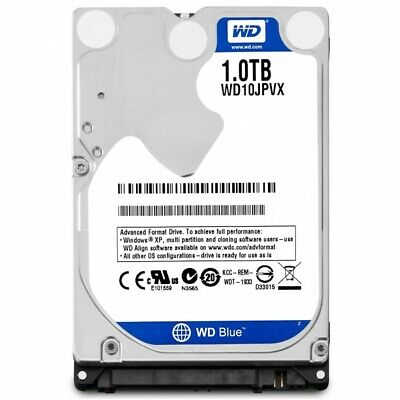 WD Blue 1TB Mobile 9.50mm Hard Disk Drive - 5400 RPM SATA 6Gb/s 2.5 Inch - WD10J