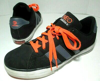super popular e9639 f35e7 Adidas NEO Ortholite Sneakers Skate Shoes Mens Size 10.5 Black Orange Suede  VGC