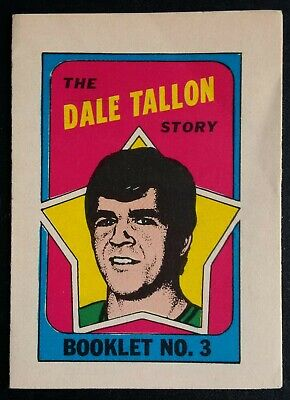 1971-72 OPC O-Pee-Chee Hockey Booklet Insert #3 of 24 Dale Tallon Vancouver