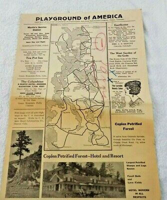 Playground Of America Map - From U.s. Auto Road Info. Co., Denver, Colo.