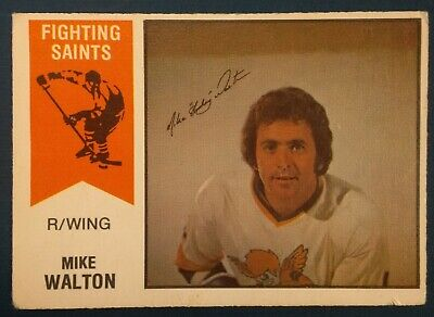 1974-75 OPC O-Pee-Chee Hockey WHA #10 Mike Walton Minnesota Fighting Saints
