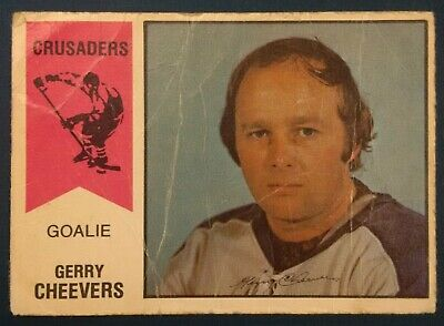 1974-75 OPC O-Pee-Chee Hockey WHA #30 Gerry Cheevers Cleveland Crusaders