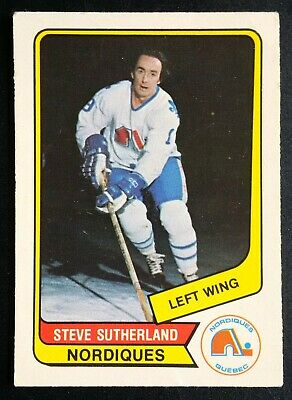 1976-77 OPC O-Pee-Chee Hockey WHA #127 Steve Sutherland Quebec Nordiques