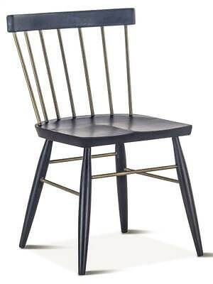Windsor Ebony Dining Chair in Black - Set of 2 [ID 3884160]