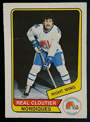 1976-77 OPC O-Pee-Chee Hockey WHA #76 Real Cloutier Quebec Nordiques