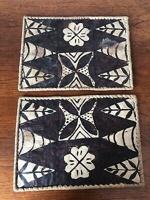 Two Vintage Samoan Table Place Mats