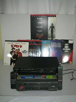 Rare Sony Mdp-Mr1 Laserdisc Player + Suntech Rs-260 Chinese Eng Caption Decoder