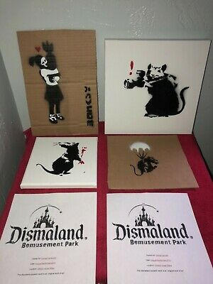 Banksy Dismaland Souvenirs and Cardboard Spray Paint