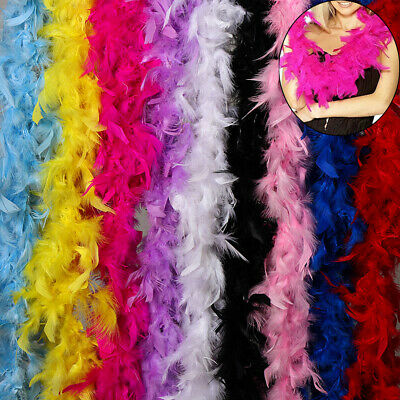 2M Feather Boa Costume Grament Accessory Fancy Dress  Showgirl Dancer 9 Golour