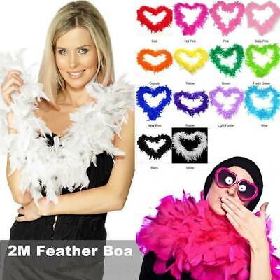 2M Feather Boa Costume Accessory Fancy Dress Burlesque  Showgirl Dancer 9 Golour