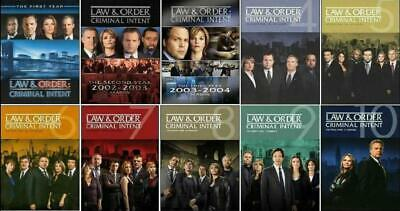 LAW AND ORDER CRIMINAL INTENT: Season 1-10 COMPLETE SERIES, FREE SHIPPING,NEW.