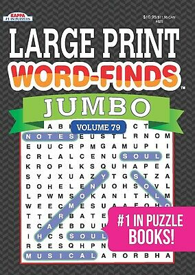 JUMBO Large Print Word Search Perfect Paperback by Kappa Books Publishers NEW