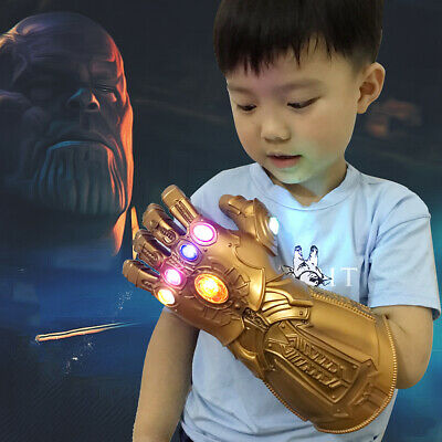 2019 Thanos Infinity Gauntlet LED Light Gloves Kids Avengers Cosplay gift toy