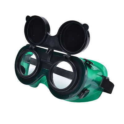 Welding Goggles With Flip Up Darken Cutting Grinding Safety Glasses Green Fad EX