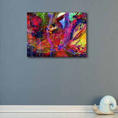 Number 3 Abstract Multi Colors Ink Oil Canvas Poster Prints Modern Painting HD