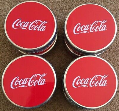 Large Bottle Cap Lip Smacker Round Coca Cola Tins For Candle Making Storage X 8