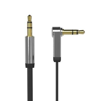 AKORD Flat Aux 3.5 mm Stereo Audio Jack to Jack Right Angle Cable