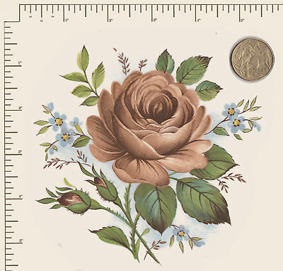 "1 x Ceramic decal. Decoupage Roses Flowers Floral Approx. 5 1/4"" x 5 1/4"" #2"