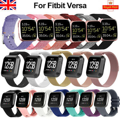 For Fitbit Versa Strap Replacement Woven Fabric / Milanese / Silicone Watch band