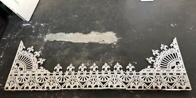 Antique Original Victorian Cast Iron Lace X 3 Pieces
