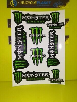 MONSTER ENERGY STICKERS PRE CUT 1 sheets of 8 stickers