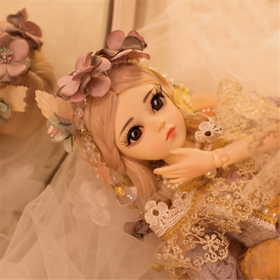 "60cm Mini BJD Dolls 24"" Lovely Girl Dolls FREE Face Make Up Cloths Eyes Wig Toy"