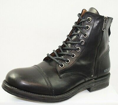 f365387e7136d REPLAY CLUTCH MEN Casual High Top Leather boots in Black Size UK 6 ...