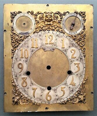 Brass Clock face Oldfield's Liverpool Ltd, highly decorative W 230 mm H 279 mm