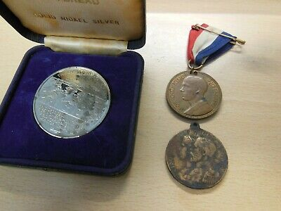 British empire day medal + 2 others