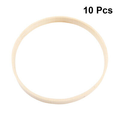 10pcs Bamboo Rings Round Wood Hand-made DIY Dream Catcher Ring for Female Woman