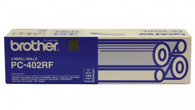 Brother PC-402RF Fax Cartridge Refill Rolls FAX-636 FAX-827 FAX-676MC FAX-837MCS