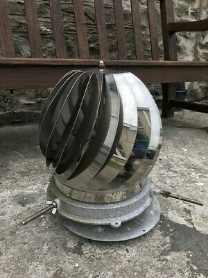 Spinning chimney cowl stainless steel