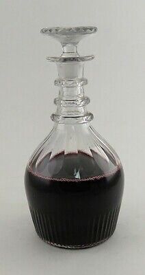 Antique c1800 Hand Blown Classic Form Glass Wine Decanter