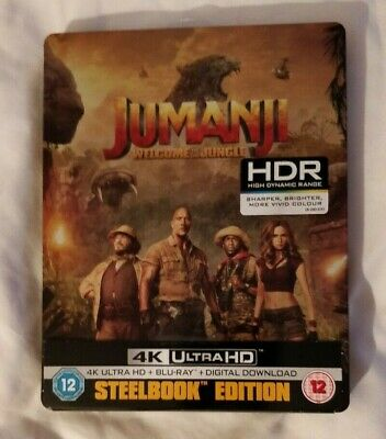 Jumanji: Welcome To The Jungle 4K UHD (Inc 2D) Ltd Edition Blu-ray Steelbook