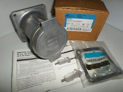 **NEW IN BOX** Crouse-Hinds AR1041 100-Amp Pin&Sleeve RECEPTACLE 100A 4W 4P 600V