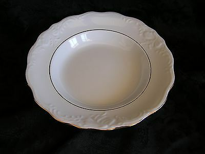 Gibson Designs Golden Legacy White Scallop Gold Trim Rim Soup Cereal Bowl RARE!