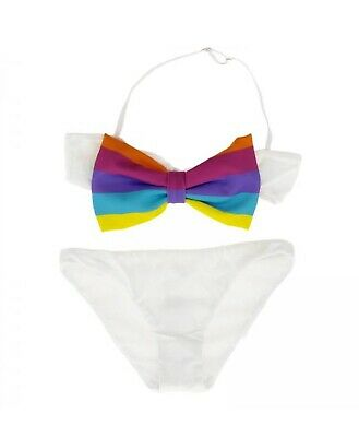 Costume MC2 Saint Barth bimba malice rainbow bianco ss19