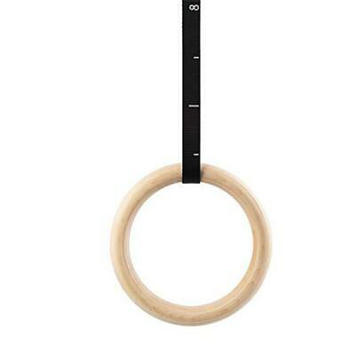 Wooden Gymnastic Rings With Straps Gym Strength Training Pull Up Exercise