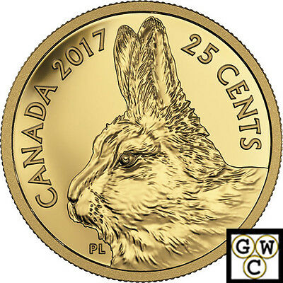 2017 Traditional Arctic Hare-Predator vs. Prey Prf 25C Gold .9999Fine(NT)(17667)