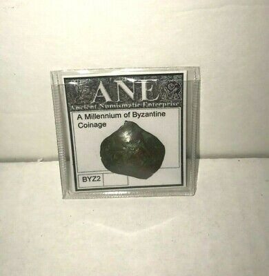 ANE Antique BYZANTINE COINAGE (cup shaped) BRONZE Metal Coin