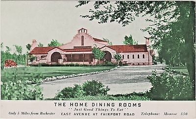 Home Dining Rooms Restaurant, East Avenue at Fairport Road, Rochester, New York