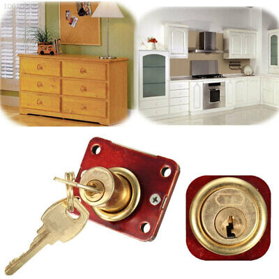 DEC7 Wine Red Cabinet Lock Buckles Drawer Lock Zinc Alloy Stainless Steel Bolt