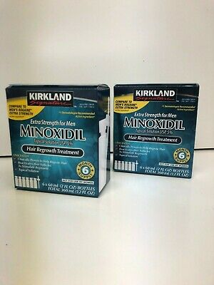 12 Month Supply Kirkland Minoxidil Men's 5% Solutions Heir Regrowth 11/2020