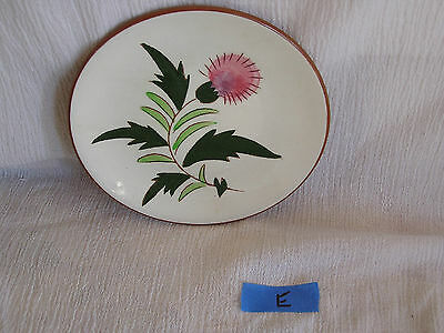 Vintage Stangl Pottery Trenton New Jersey Pink Thistle Dish Plate  RARE! E