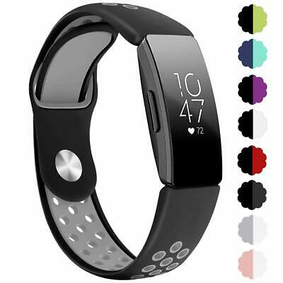 Soft Silicone Breathable Two-Tone Replacement Band for Fitbit Inspire/Inspire HR
