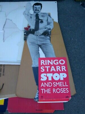 Ringo Starr 1981 Stop And Smell The Roses Promo Standee Vg Rare Creases Vtg Htf!