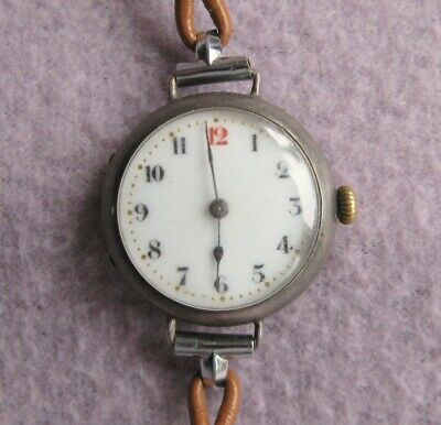 1930s Silver Hallmark Art Deco Ladies Watch Swiss Made Movement