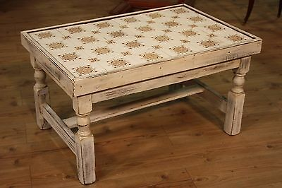 Coffee Table Table Low Wood Lacquered Furniture Antique Style Vintage 900